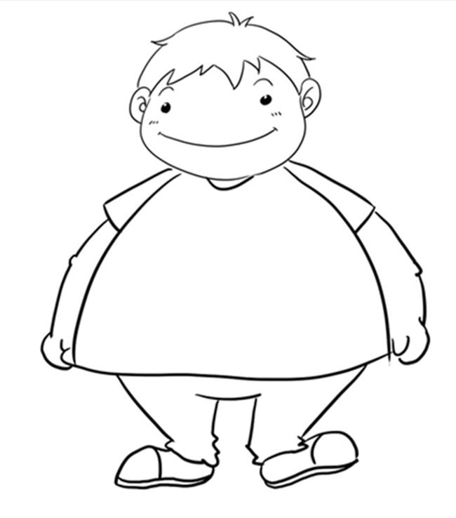 胖瘦简笔画_请为我制定一份饮食锻炼的方案!